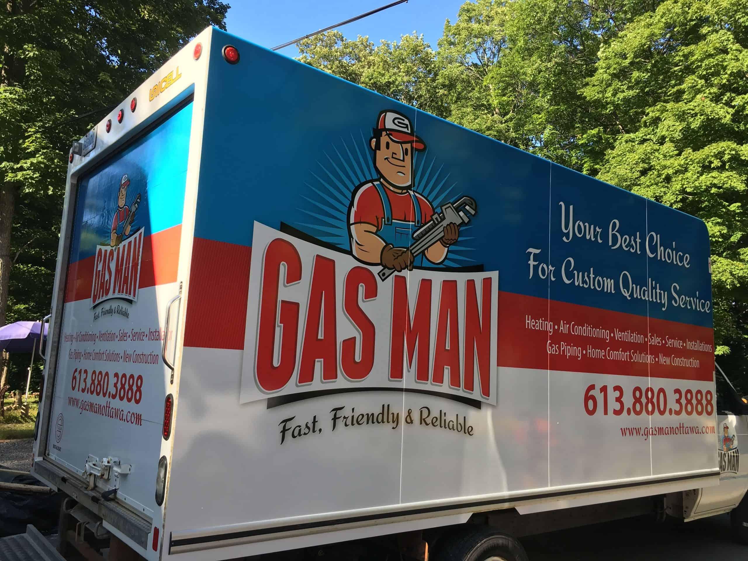 gasman hvac truck