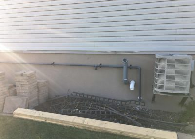 gas piping along house