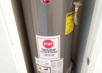 rheem closet hot water heater