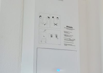 tankless hot water installed on a wall