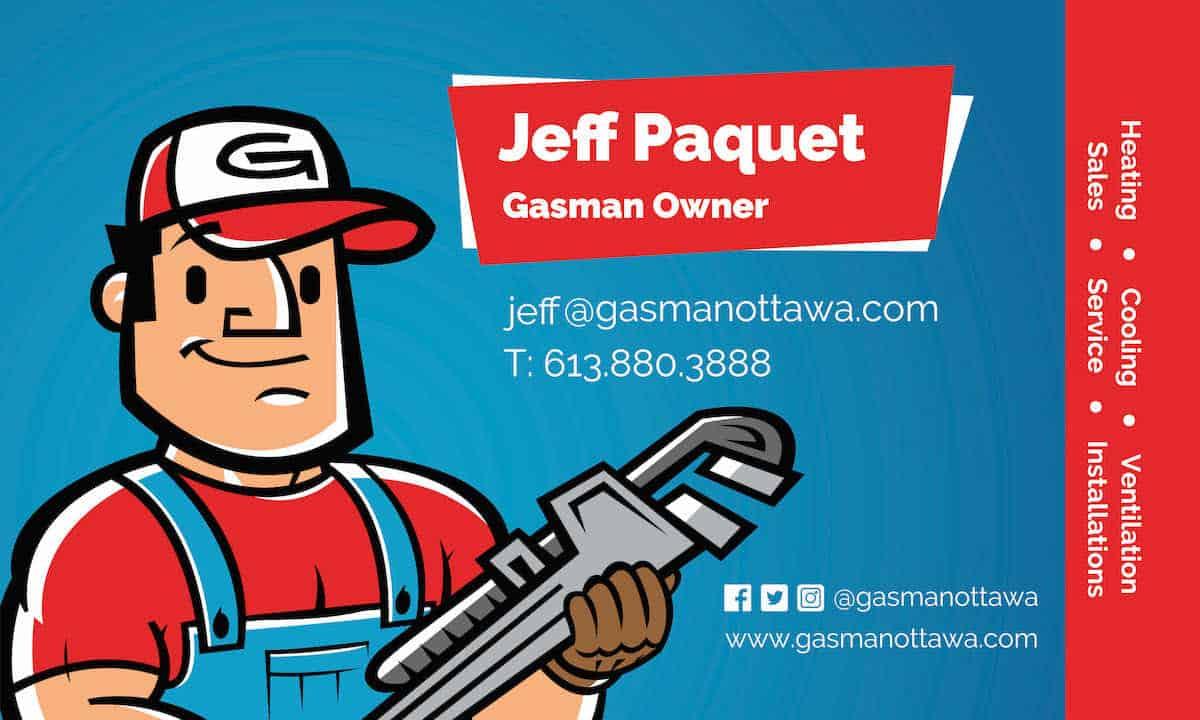 Gasman Business Card Template
